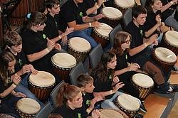 Trommelgruppe, Förderschule Riesa
