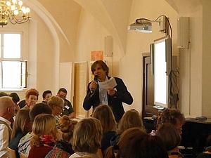 Henno Kröber bei der Eröffnung